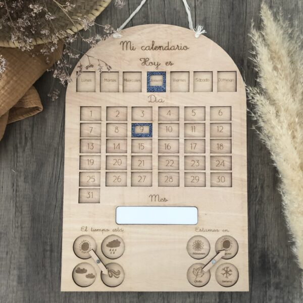 calendario infantil , aprender los dias de la semana , espacio tiempo,