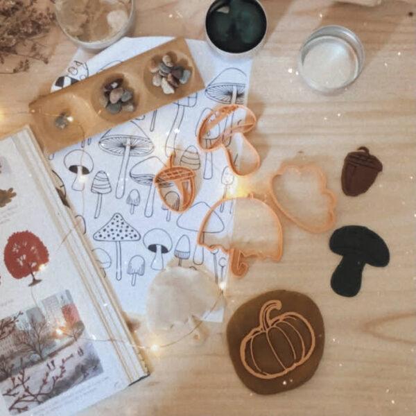 moldes plastilina aprender jugandomolde, eco-molde para plastilina, aprender jugando, actividades de otoño infantiles, aprender las hojas, plastilina casera ,