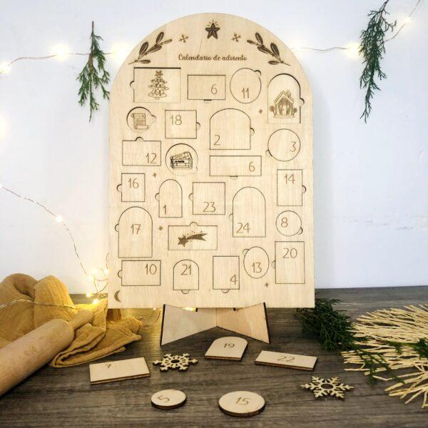 Calendario de adviento , actividades navideñas infantiles