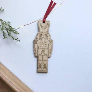 Bola navidad cascanueces , decoracion navideña, decoracion arbol de navidad